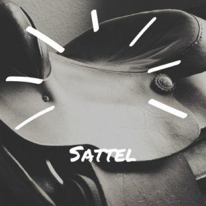 Sattel und Sattelgurt